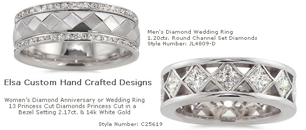 Custom Rings by Elsarings Platinum White Gold Wedding and