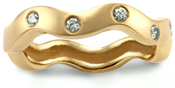 Custom 14k gold wedding rings